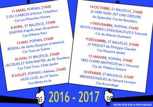 verso carte postale 2016-2017